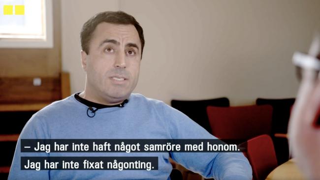 """""""Skämskudde"""" när Özz Nûjen konfronteras om kopplingarna till terroristen Akilov"""