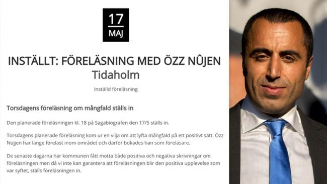 EXTRA: Därför ställer Tidaholms kommun in Özz föreläsning