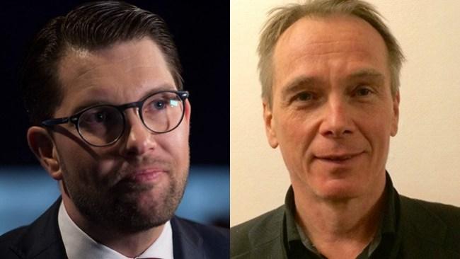 "Jimmie Åkesson backar Jan Sjunnesson: ""I en demokrati tillåts satir"""