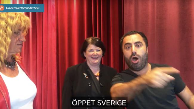 Özz skämtar vidare på Gotland – nytt gig för fackförbund