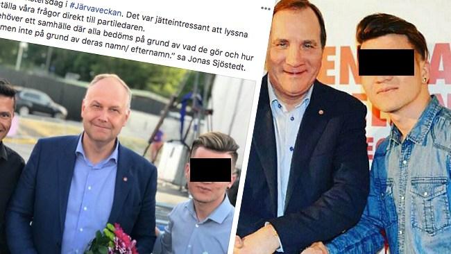 """Här poserar Jonas Sjöstedt med känd sexförbrytare: """"Jag kommer inte kommentera det här"""""""