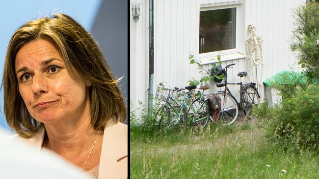 """""""På min gräsmatta finns inte ett grönt grässtrå längre"""" – och vad gör skelettet bakom Lövins hus?"""