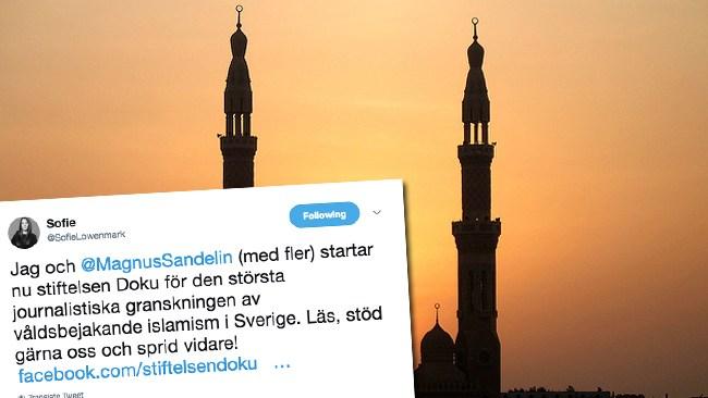 Sofie Löwenmarks nya projekt Stiftelsen Doku: Ett Expo för den jihadistiska miljön