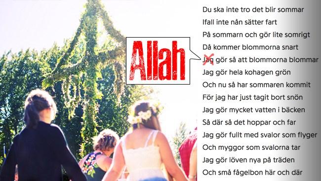 """Muslimsk friskola: """"Allah gör så att blommorna blommar..."""""""