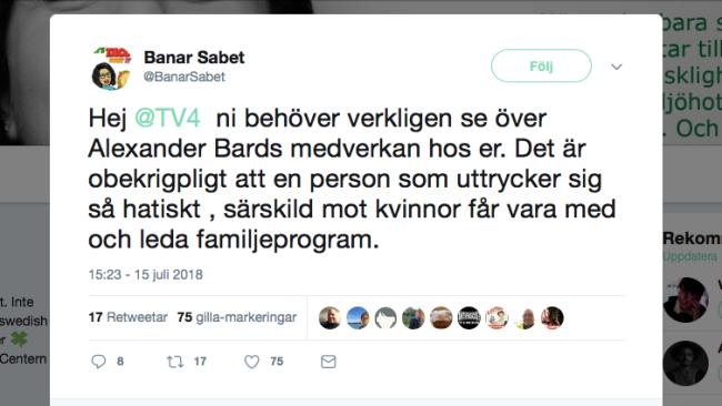 Centerpolitiker försöker få Alexander Bard sparkad