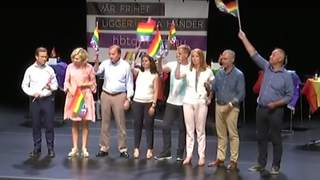 Moderaterna svarar inte på frågor om Kristerssons deltagande i kritiserad Pride-debatt