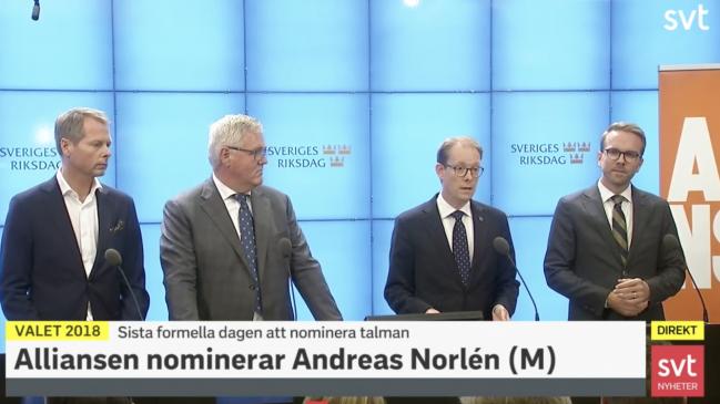Alliansen: SD får inga ordförandeposter i Riksdagens utskott