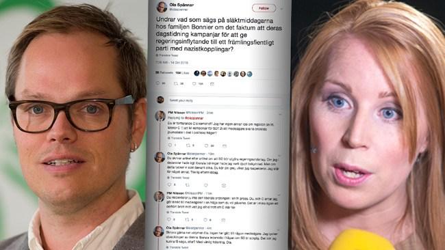 """Kritikstorm mot centertoppens tweet om """"familjen Bonnier"""""""
