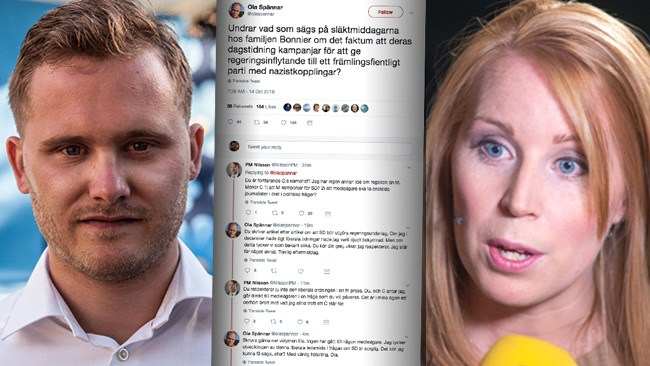 """SD om centertoppens tweet: """"Vi har uteslutit personer för liknande utspel"""""""