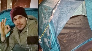 Tältbluffen: Migrantlägret i Solna tomt
