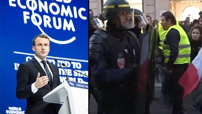 Våldsamma protester mot höjd bensinskatt i Frankrike