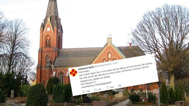 Limhamns kyrka slutar twittra efter kritik