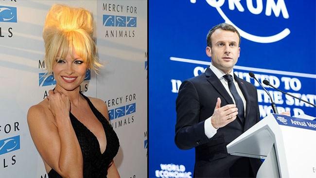 Pamela Anderson sågar Macron