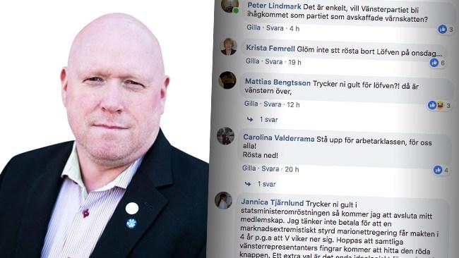 """Passningen till Sjöstedt inför onsdag: """"Det arbetarvänliga partiet idag är SD"""""""