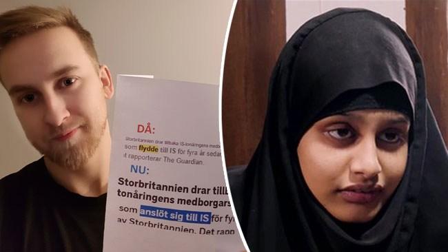 """Han fick mediejätten att backa – SVT påstod att IS-fru """"flydde"""" Storbritannien"""
