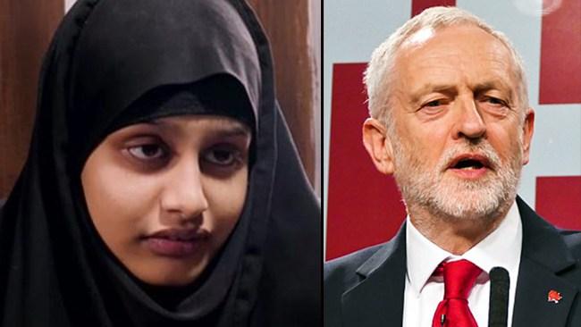 Corbyn: IS-kvinnan har rätt att återvända