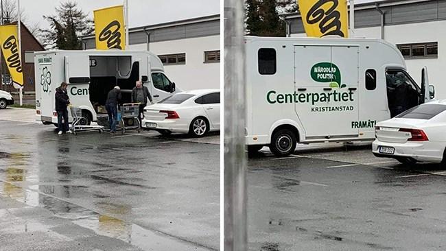 Handlar från tysk spritbutik – i centerpartistisk skåpbil