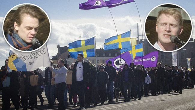 Nazismbeskyllningar och klimatreklam vid protest mot EU:s upphovsrättsplaner