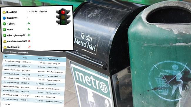 Hela listan: Här är Metros alla betalningsförelägganden