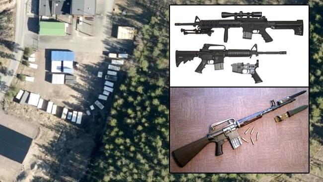 Vänsterextremist åtalas för vapengömman i Taberg