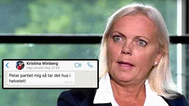 Kristina Winbergs hot mot SD-topparna – därför petas hon från EU-listan