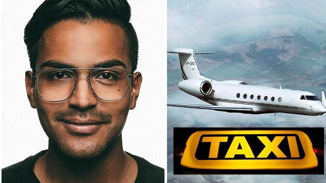 Åkte taxi för nästan 8 000 kronor – nu kräver SSU-bossen Botström förbud för privatjet