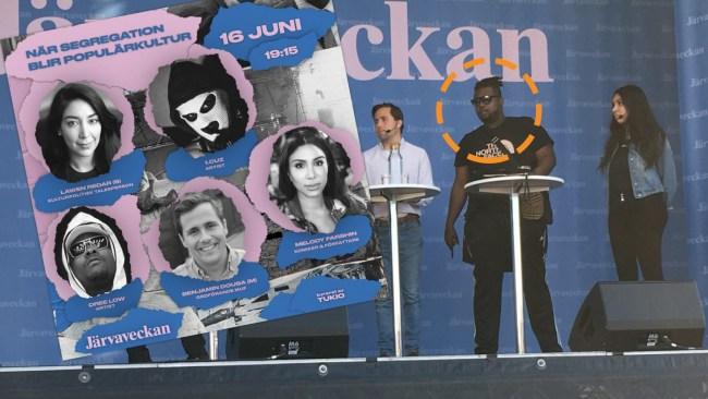 Skandal på Järvaveckan: Polis tvingades av scen när förortsrappare skulle debattera