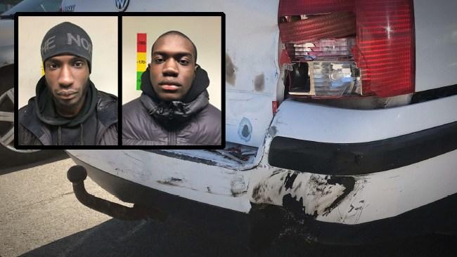 Blev utsatt för rånförsök – svarade med att preja rånarnas bil
