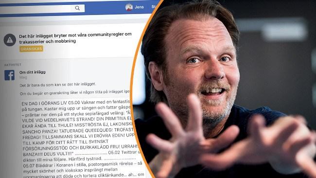 Publicerade satir om Greider – utestängs från Facebook