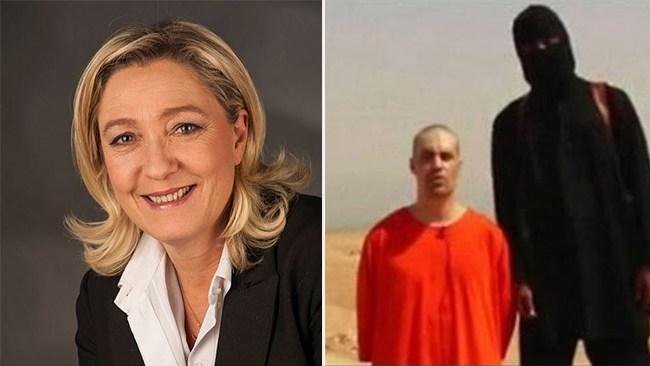 Le Pen åtalas för att ha delat IS-bilder på Twitter