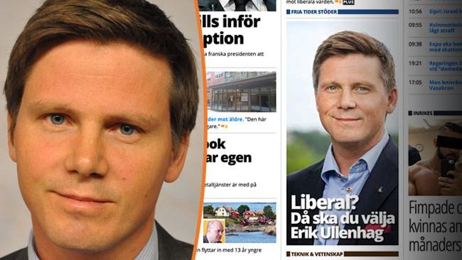"""Därför stöds Ullenhag av Fria Tider: """"Har ju en förmåga som ingen annan"""""""