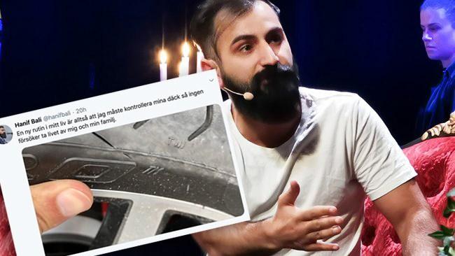 """""""Hot mot demokratin"""" Hanif Balis (M) bil vandaliserad och däck saboterade"""
