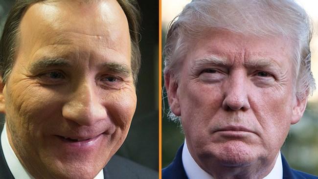 """Trump: """"Jag har precis haft ett väldigt bra samtal med svenske statsministern..."""""""