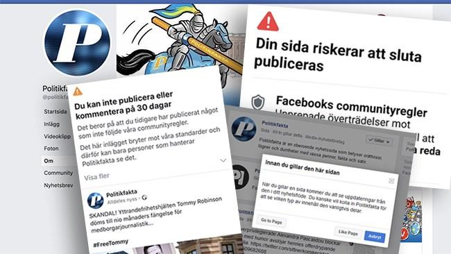 Facebooksidan Politikfakta hotas av nerstängning