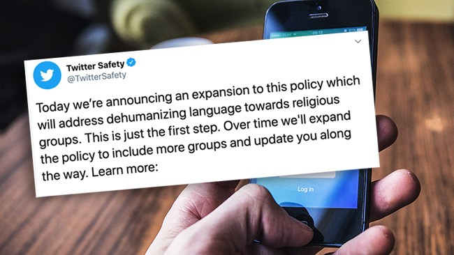 """Twitter förbjuder """"nedsättande språkbruk"""" om religiösa grupper: """"Bara första steget"""""""