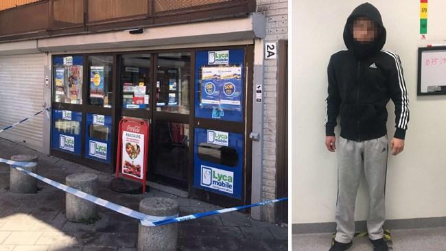 15-åring med skarpladdad pistol försökte råna butik – övermannades av ägaren