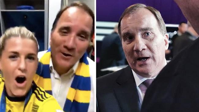 """Löfven tog statsflyget till bronsmatchen: """"Självklart"""""""