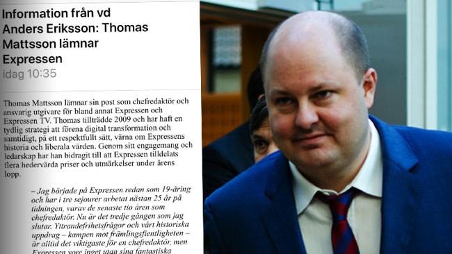 Mejlet avslöjar: Personalen meddelades av VD:n en timme innan Mattsson avgick