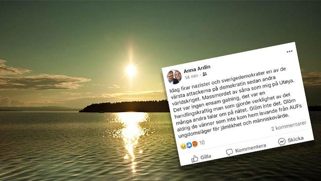 Socialdemokratisk diakon: Sverigedemokrater firar Breiviks terrordåd