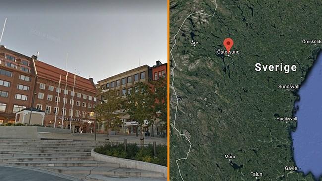 Uppgifter: Man försökte köra ihjäl människor vid Stortorget i Östersund