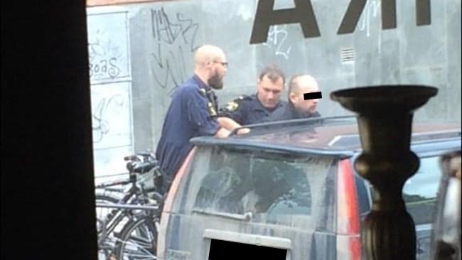 Här grips misstänkte terroristen vid Stortorget i Östersund