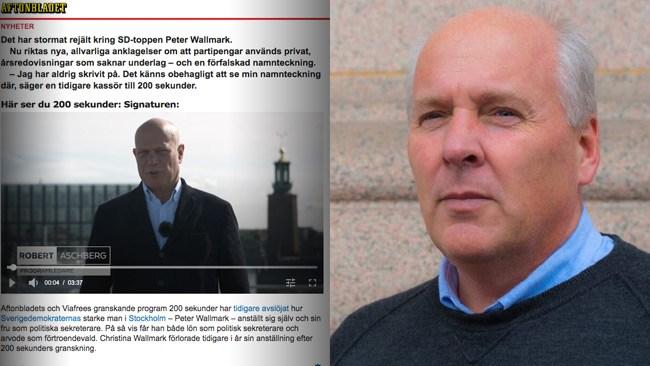 Aftonbladets anklagelse mot SD-politikern Peter Wallmark motsägs av ögonvittne