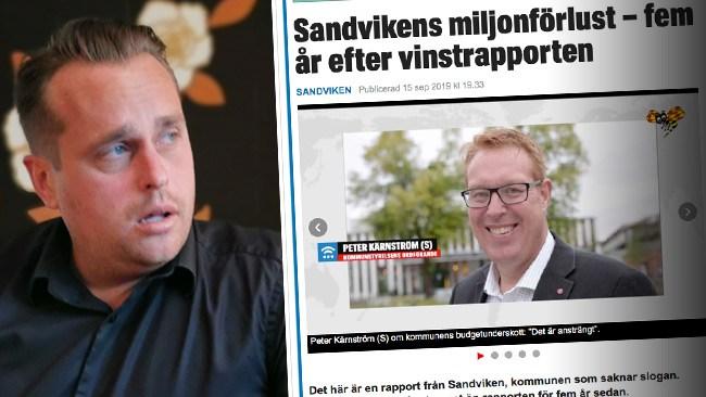 """""""Där guld blir till sand"""" – så hånas Sandviken av Staffanstorps starke man"""
