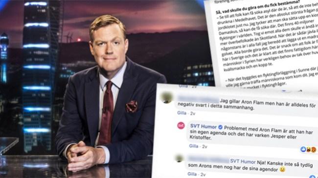 """SVT-mannens galna migrantutspel 2014: """"Tog vi emot alla dem skulle vi ändå inte vara mer överbefolkade än Skottland"""""""
