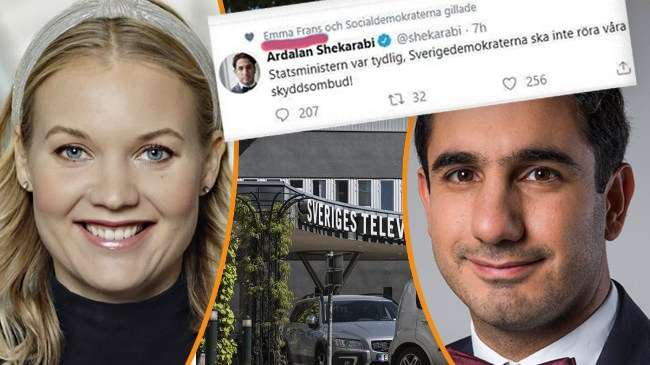 SVT-profilen Emma Frans stöttar Shekarabi om SD – nu ska hon leda Nobelprogram