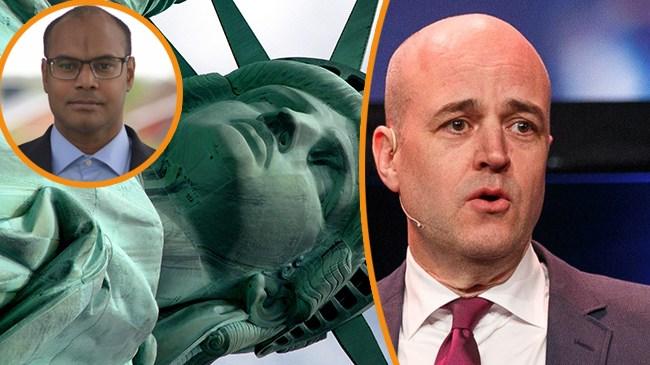 Berggren: Svagt när Reinfeldt försöker kommentera Trump