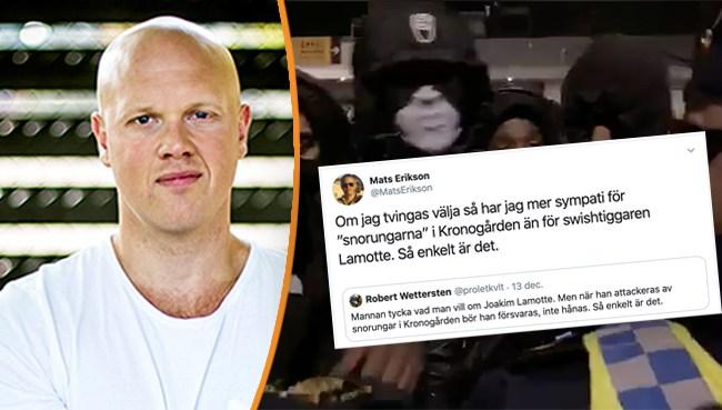 Skandaluttalandet från LO:s politiske sekreterare: Mer sympati för Kronogårdsgänget som misshandlade Lamotte än för Lamotte