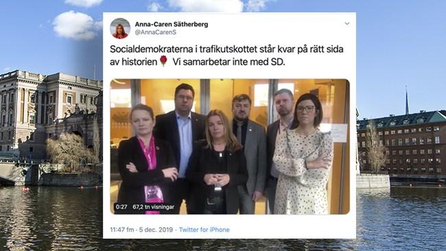 """Socialdemokraterna i trafikutskottet sätter ner foten mot SD: """"Detta tänker vi bekämpa"""""""