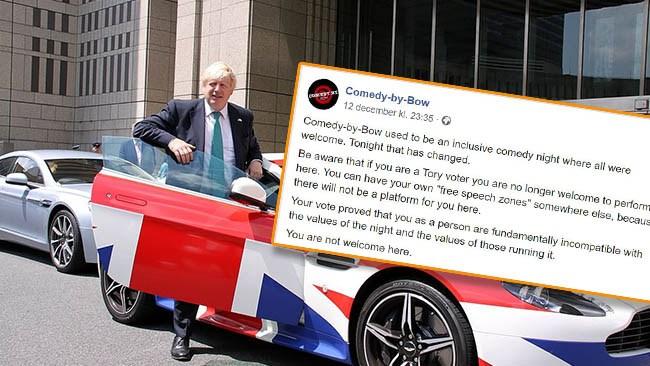 Brittisk stand up-klubb ville porta konservativa komiker – backar efter hård kritik