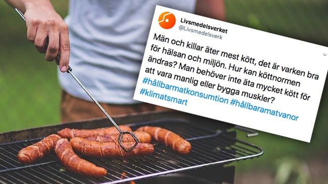 Kritikstorm mot Livsmedelsverket – tycker att män ska äta mindre kött